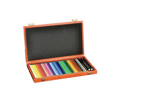 מארז מהודר- עפרונות שעווה פוליקולור 36 יח׳