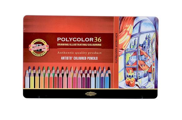 עפרונות שעווה פוליקולור 36 יח׳