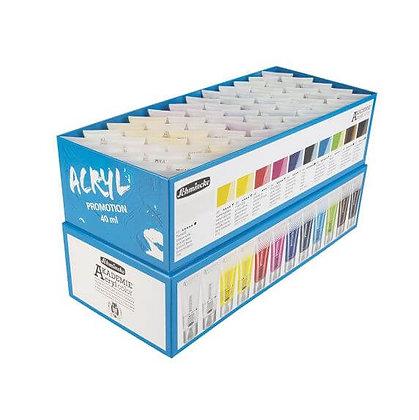 סט צבעי אקריליק 60 שפופרות Schmincke AKADEMIE®