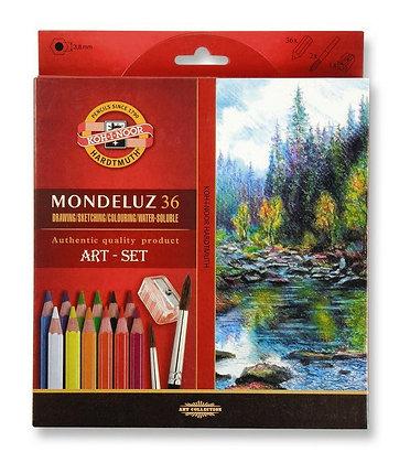 סט עפרונות אקוורל 36 יח׳ עם מחדד ומכחול