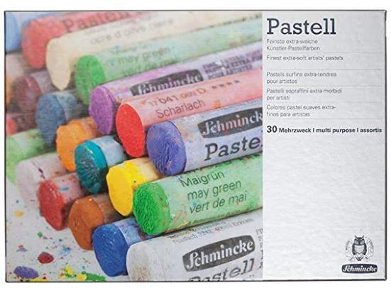 45 צבעי פסטל בקופסת עץ מהודרת תוצרת schminke
