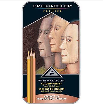 24 עפרונות מקצועיים לציור בגווני גוף Prisma Color
