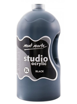 צבע אקריליק שחור 2 ליטר