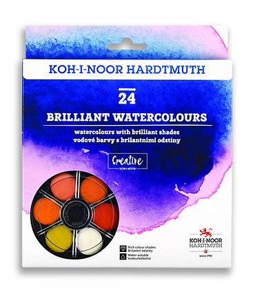 סט 24 צבעי מים בוהקים מבית קוהינור
