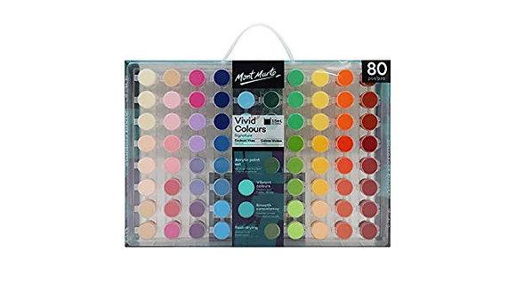 מארז התנסות בצבעי אקריליק -80 גוונים מרהיבים