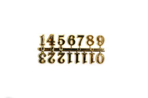 """ספרות פלסטיק לשעון 1.5 ס""""מ צבע זהב"""