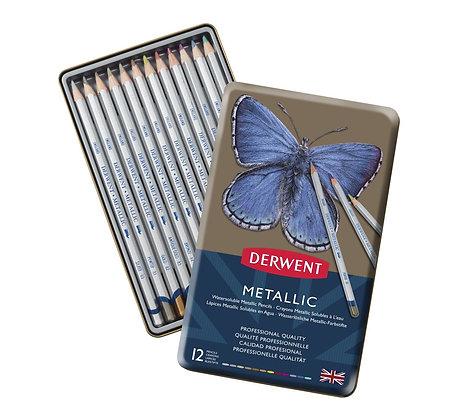 Derwent סט 12 עפרונות מטאליים
