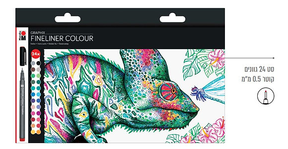 מרבו גרפיקס - FINELINER GRAPHIX - סט 24 עטים בצבעים