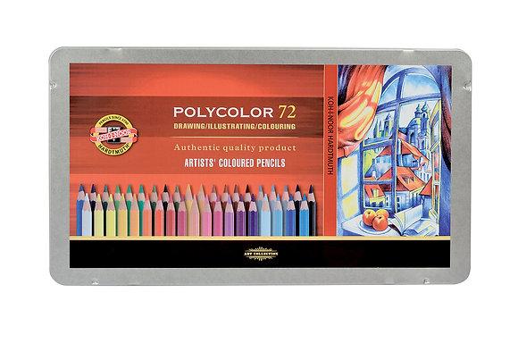 עפרונות שעווה פוליקולור 72 יח׳