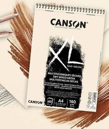 """בלוק במרקם """"חול"""" - דפים בגוון טבעי A4 Canson"""