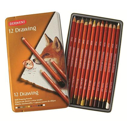 Derwent סט 12 עפרונות לציור