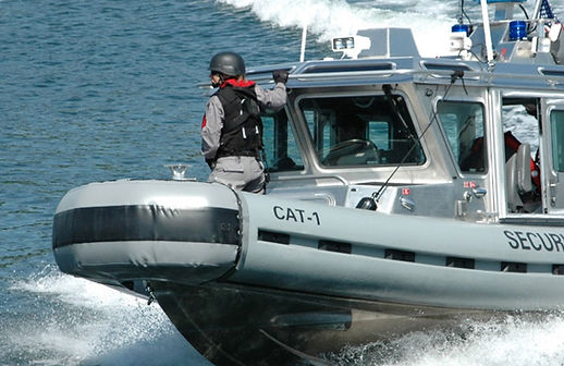 One of our CAT team members in Seattle, WA, providing anti terrorist security services