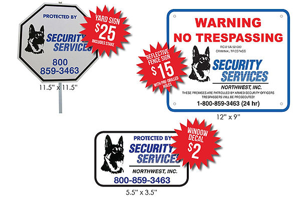 alarm protection signs for home