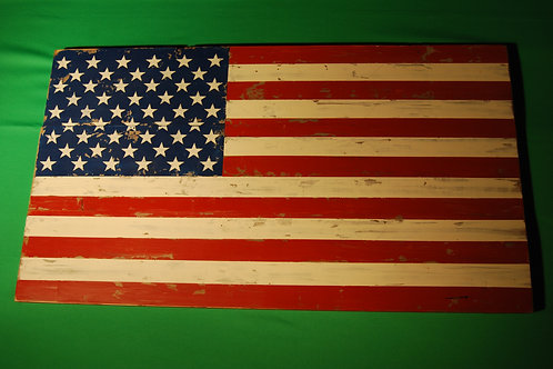 Wooden Distressed American Flag
