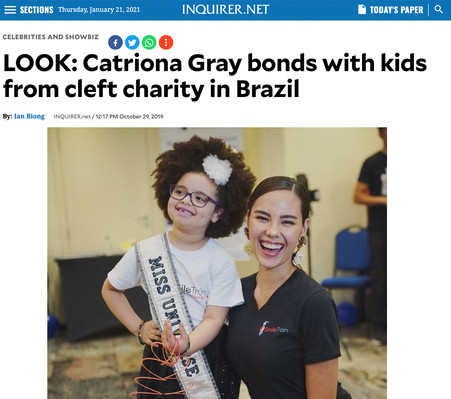 Catriona for Smile Train Brazil