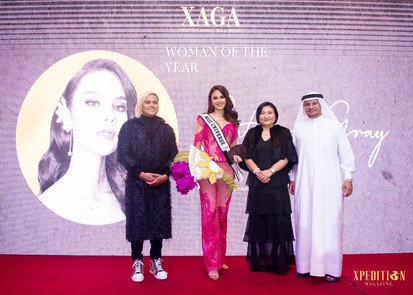 Catriona is awarded Woman of the Year at the XAGA Awards