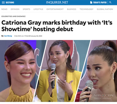 Catriona on ShowTime