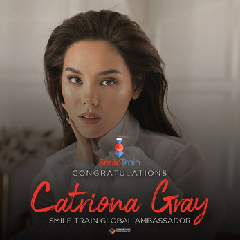 Catriona announced Global Ambassador of Smile Train