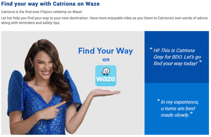 Catriona is first Filipino voice on WAZE