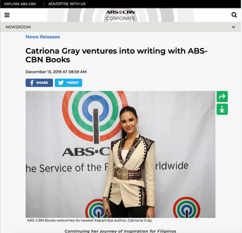 Press Release: Catriona to become an author
