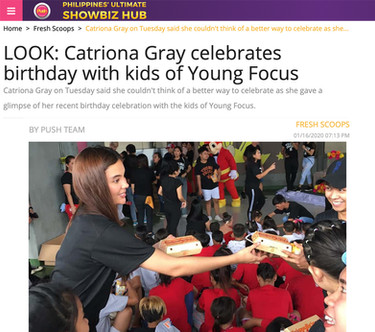 Catriona Celebrates birthday with Young Focus Kids
