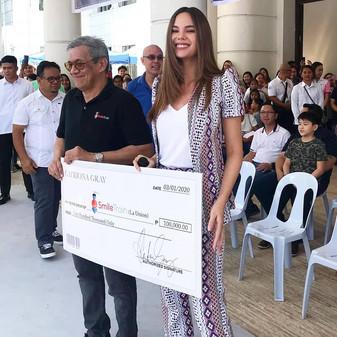 Catriona donates Php100,000 to Smile Train Philippines, in La Union