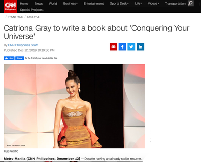 """Catriona to write a book about """"Conquering Your Universe"""""""