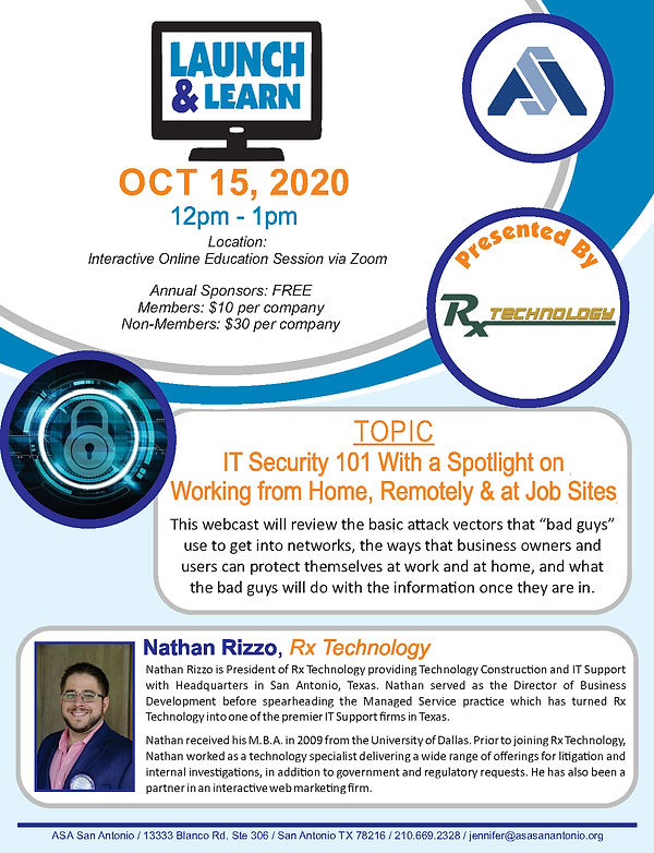 Lunch Learn - IT Security 101 10-2020.pn