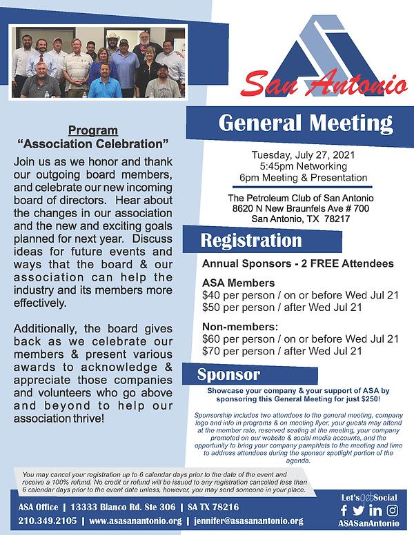 General Meeting Flyer - Association Cele
