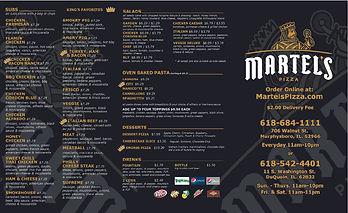 Martels To Go Menu Outside 85x14 revised