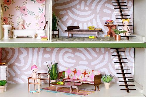 Mid Mod Custom Dollhouse Stairs