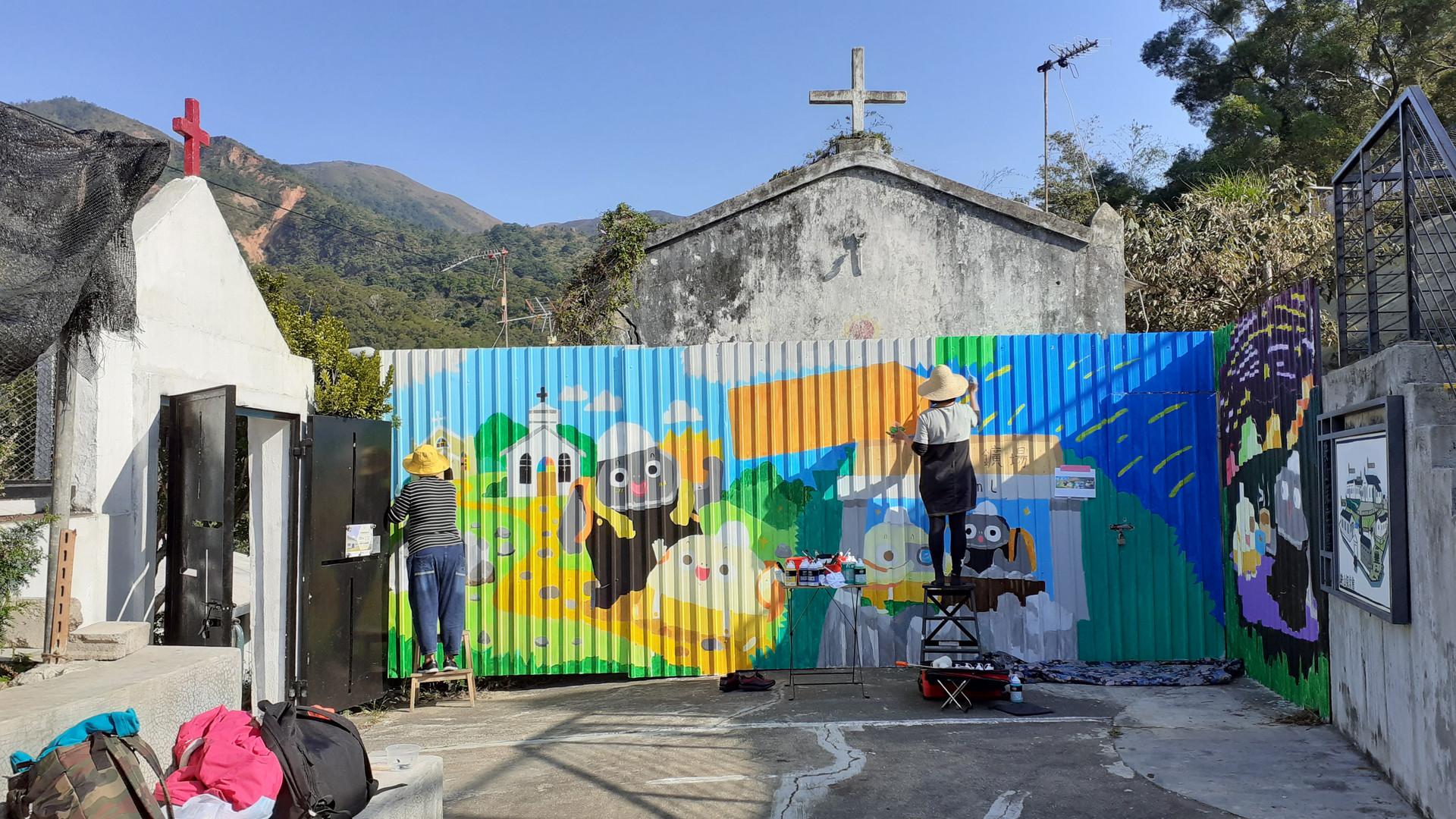 鞍山探索館壁畫