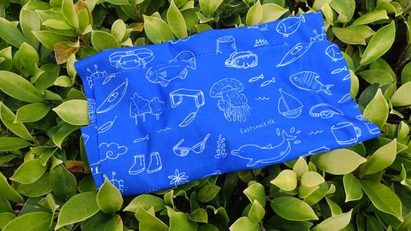 海岸風頭巾