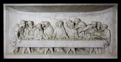 Sculpture Relief - Marble - The Last Supper