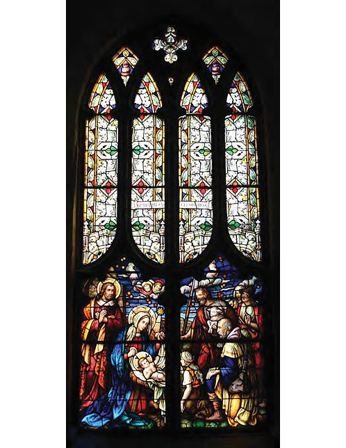 Stained Glass Window - The Nativity and Pentecost