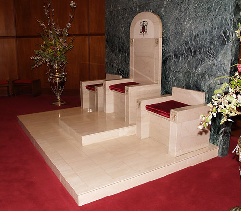 Chairs - Marble - Raredos, Cathedra and Deacon
