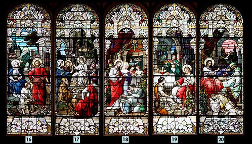 Stained Glass Window Set - Life of Christ
