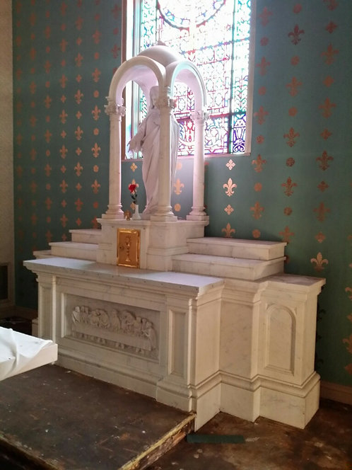 Altar - High Altar with Last Supper and Sacred Heart