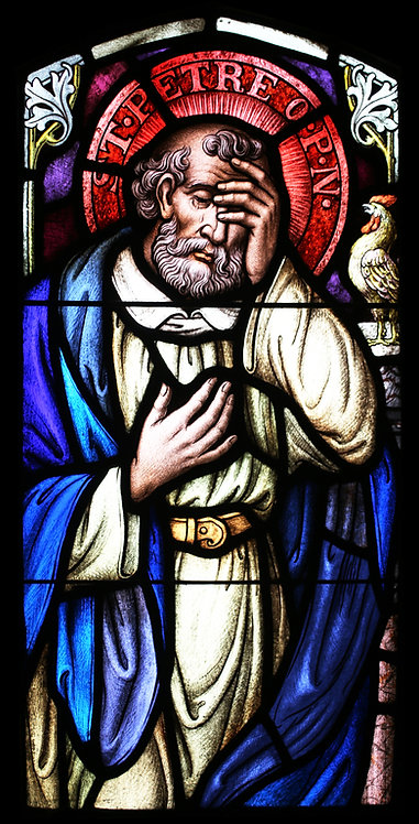 Stained Glass Windows - Saint Peter with Patterns