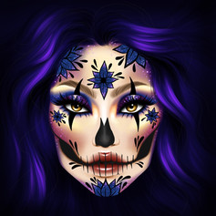 DAY OF THE DEAD COSMETICS PALLETE COVER