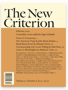 Article published in The New Criterion