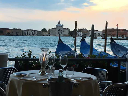 The terrace of our hotel in venice