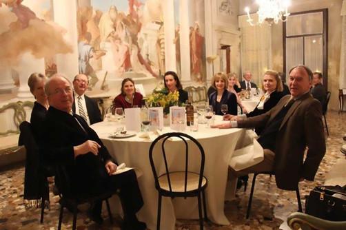 Our dinner at Villa Valmarana