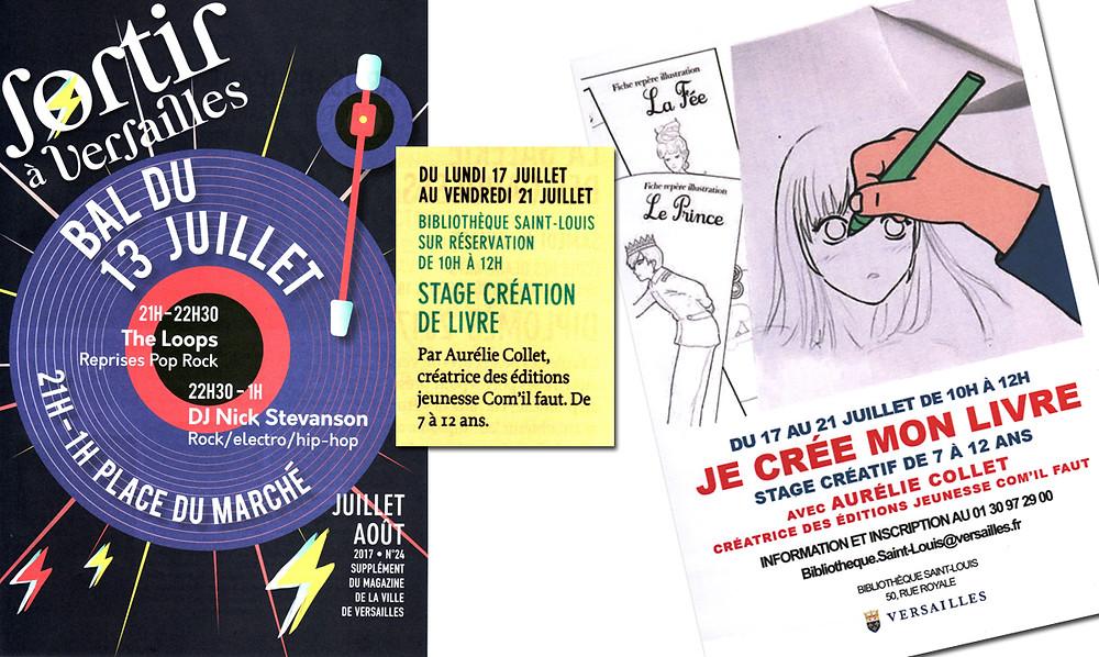 Extrait du magazine Sortir à Versailles, juil. août 2017