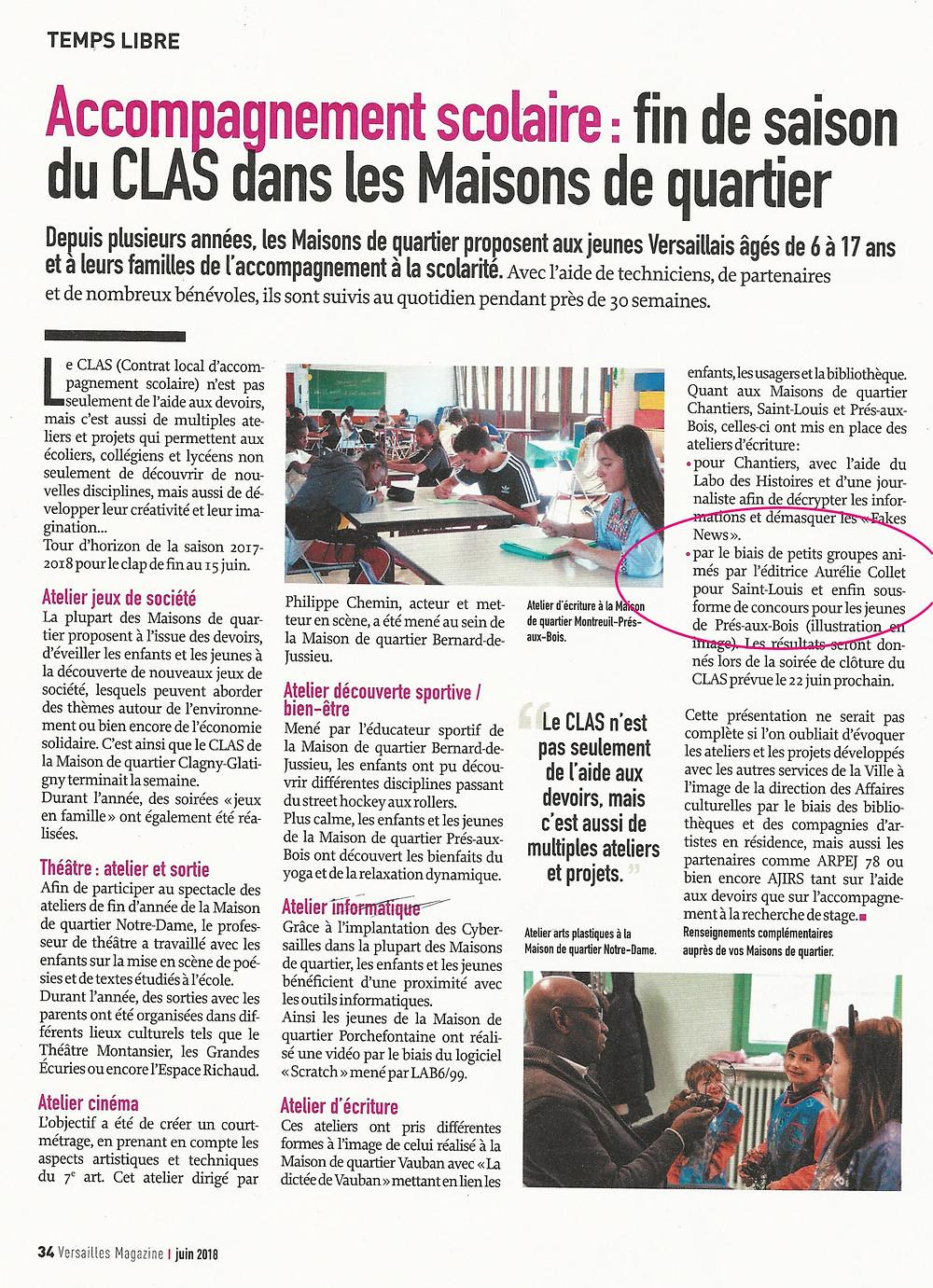 Versailles magazine - juin 2018 - p 34
