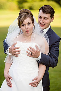 Brautpaar macht Spaß