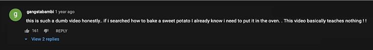 sweet potato comment