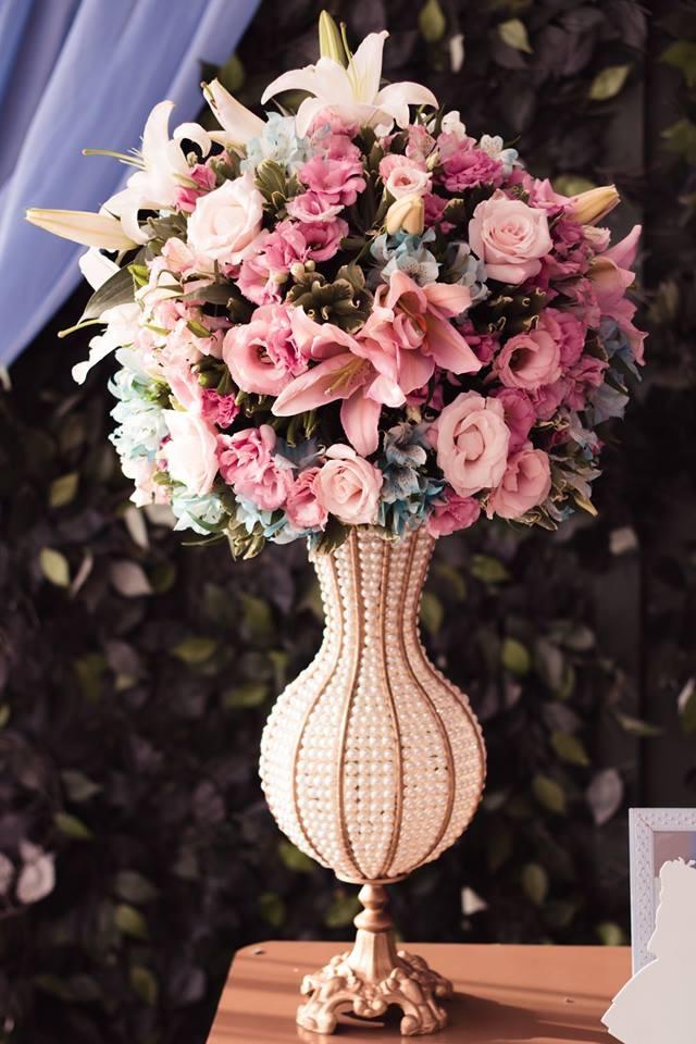Decoração com flores naturais