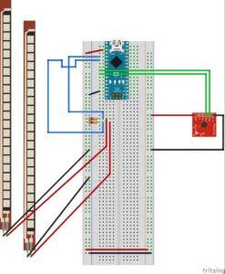 accelerometer and flex sensor circuit