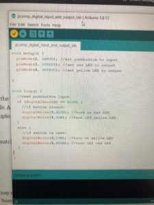 coding in arduino IDE
